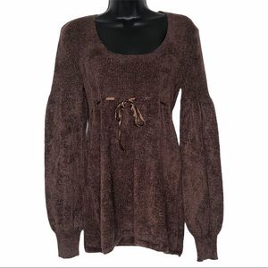 MODA INTERNATIONAL chenille sweater   M